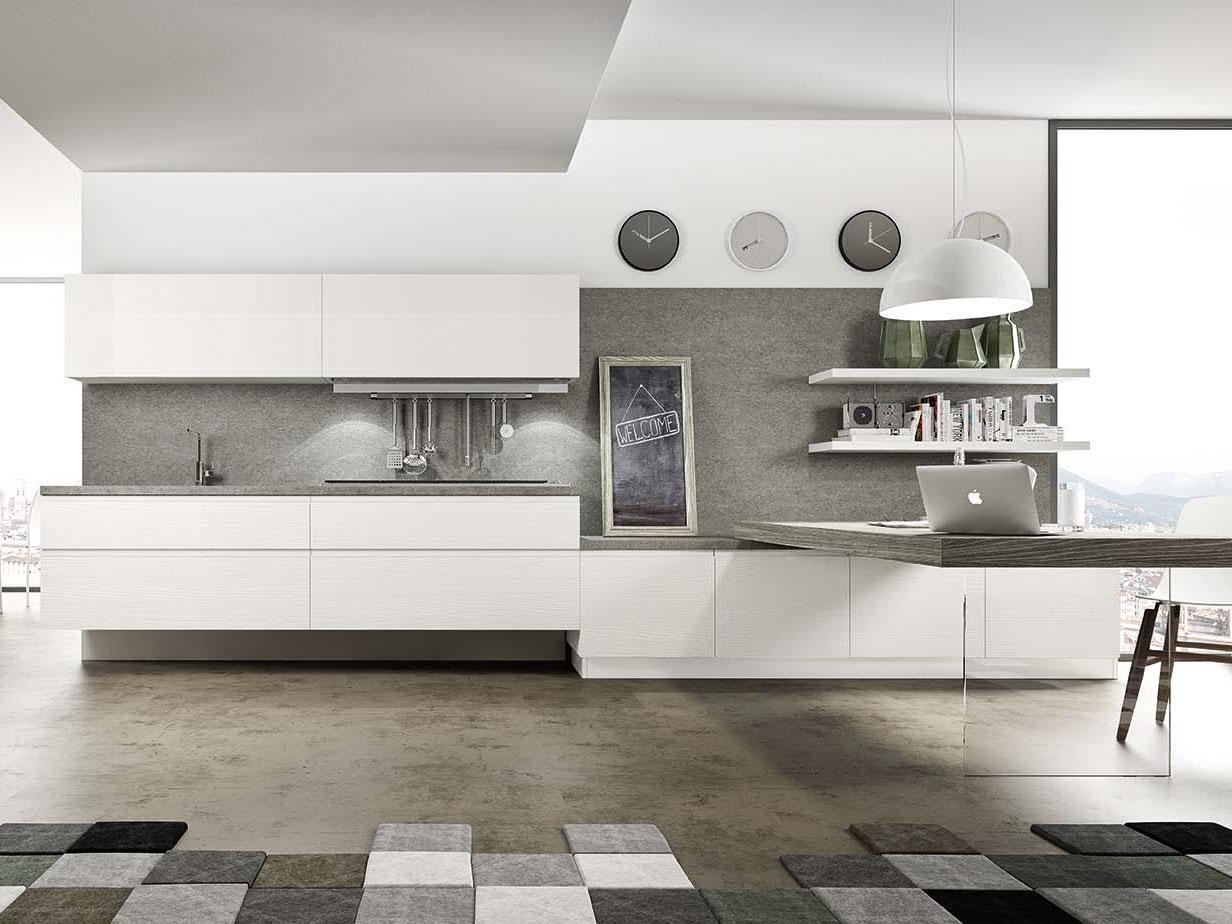 Cucine classiche lineari gallery of cucina su misura decape bianco e noce with cucine classiche for Cucine classiche in offerta